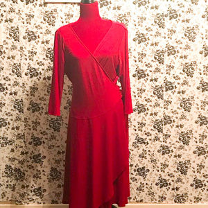 Jones New York red size 16 wrap dress